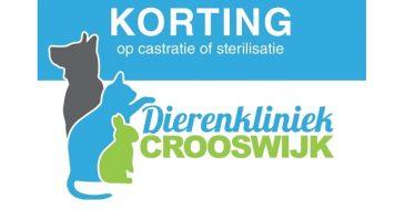 castratie sterilisatie korting dierenkliniek crooswijk